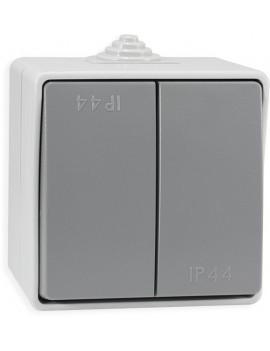 Double Interrupteur S/A Étanche 10AX-250V IP44