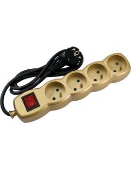 Bloc De Couleur De Prises 2P+T Avec Interrupteur 1.5m 3G1