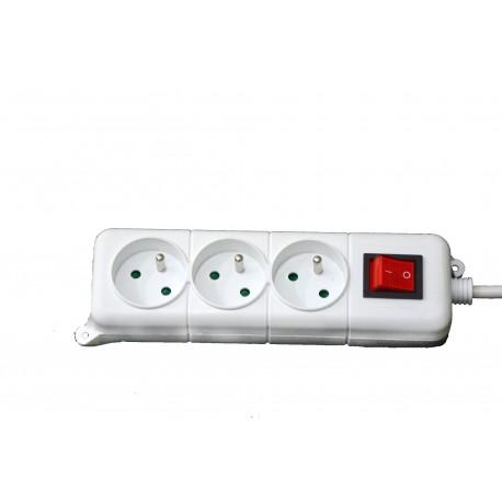 bloc multiprise 3 prise avec interrupteur