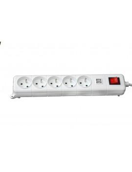 Bloc multiprise 5 prise + prise USB