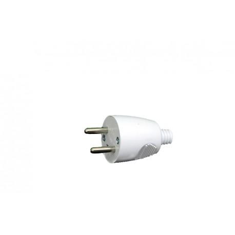 Fiche 2P avec interrupteur MALE SIMPLE 16A/250V