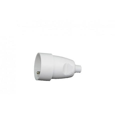 Fiche femelle 2P avec interrupteur SIMPLE 16A/250V