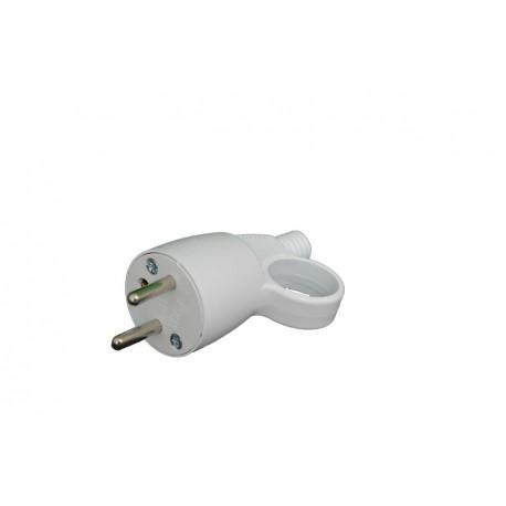 Fiche male 2P avec interrupteur AVEC ANNEAU 16A/250V