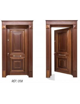 porte extérieur bois massif 058