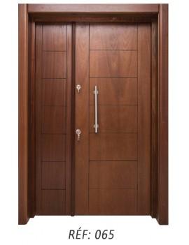 porte extérieur bois massif 065