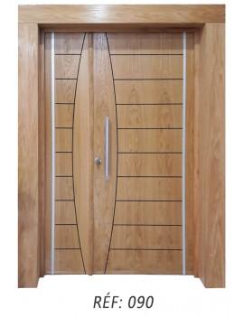 Porte extérieur bois massif 090