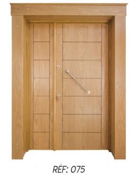 Porte extérieur bois massif 075