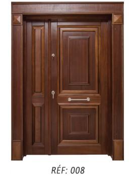 Porte extérieur bois massif 008