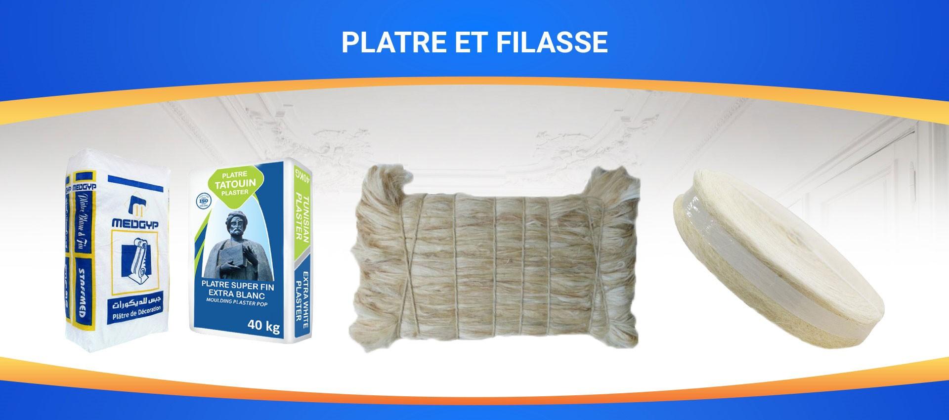Plâtre et filasse